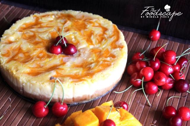Mango Swirl Cheesecake