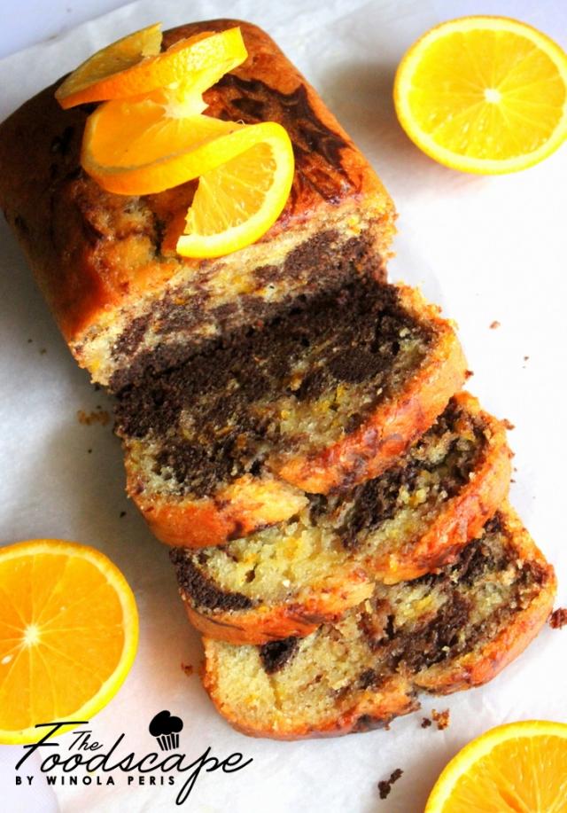 Orange Chocolate Marble Cake
