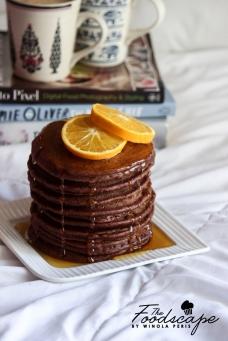 Orange Chocolate Pancakes