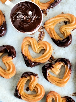 Baked Churro Hearts