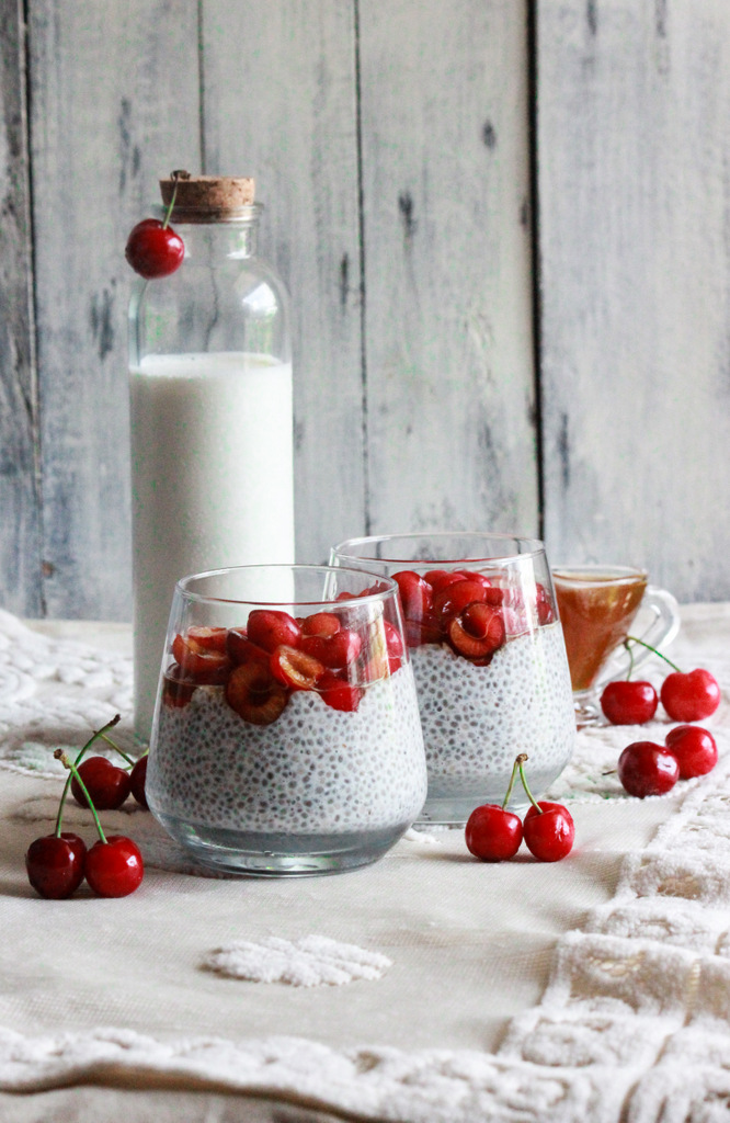 Cherry Chia Pudding