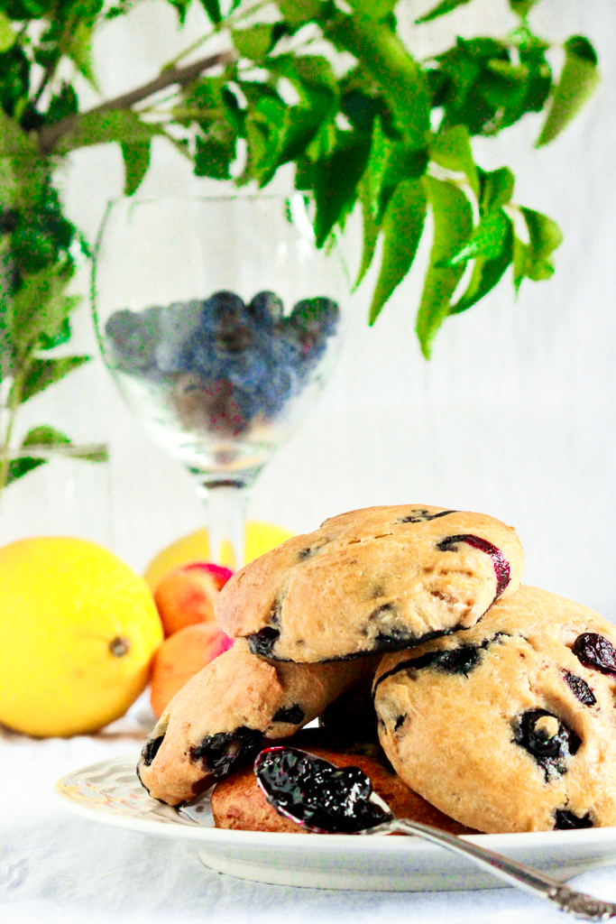 Healthier Blueberry Scones