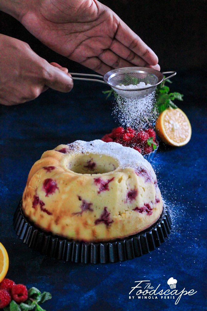 Orange Raspberry Ricotta Bundt