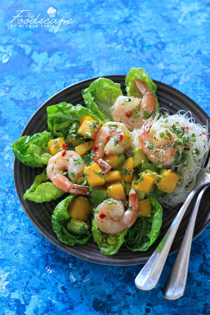 This Prawn & Mango Salad is the perfect summer salad, dressed with a Honey Chilli Lime salad dressing. It is the perfect salad idea, nutritious, healthy and balanced. Just what you need for a balanced meal. Salad Recipe. Meal Planning.