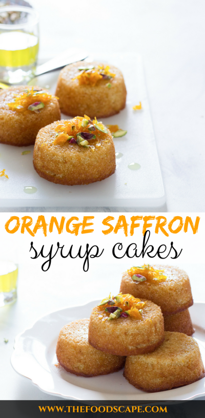 Orange Saffron Syrup Cakes drizzled with Orange Saffron Syrup. Arabian Orange Syrup Cakes. Middle Easter Orange Saffron Syrup Cakes. Orange Saffron Syrup Cakes for Eid Recipes. Citrus Syrup Cakes Recipe. Orange Syrup Cakes Recipe. Cake Recipes. Mini Cake Recipes. Citrus Cake Recipes. Middle Eastern Dessert Recipes. Basbousa Recipe. Food Photography. Arabian Dessert Recipes. Arabic Dessert Recipes. Semolina Cake Recipe.